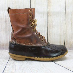 LL BEAN Leather Classic Bean Duck Boots Size 10